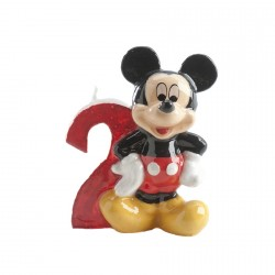 Bougie chiffre 2 Mickey