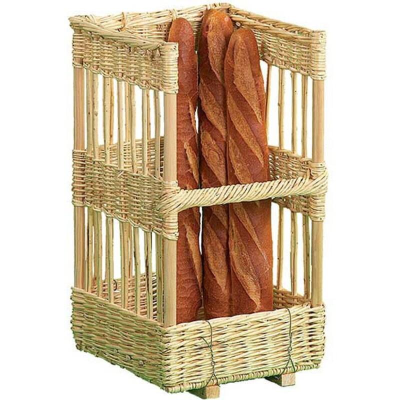 Claie à pain rectangulaire en osier