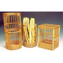 Claie à pain rectangulaire en osier 40 x 30 cm