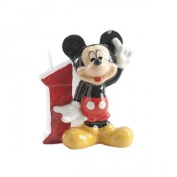 Bougie chiffre 1 Mickey