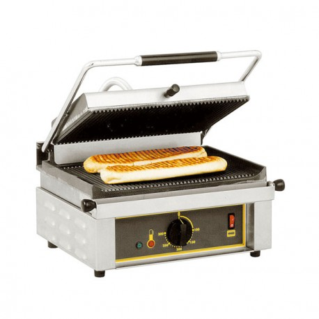 Grill panini plaques en fonte Roller Grill