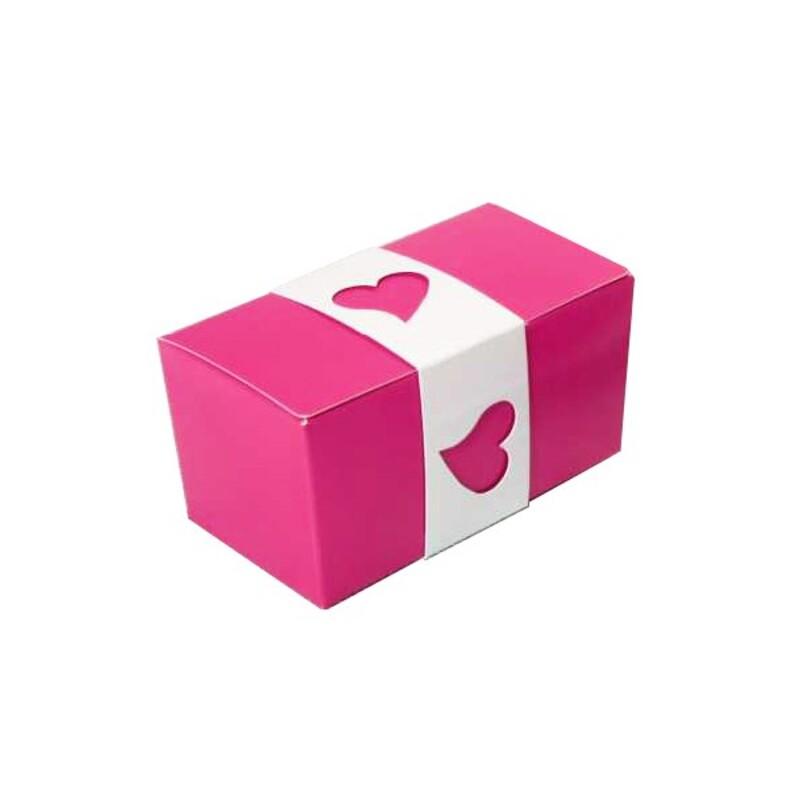 5 Ensembles Ballotins à chocolat roses / blanc
