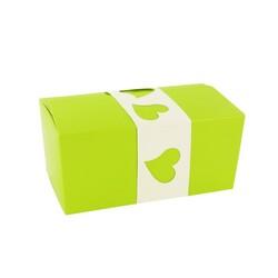 Kit Ballotin vert / blanc Patisdécor, par 5