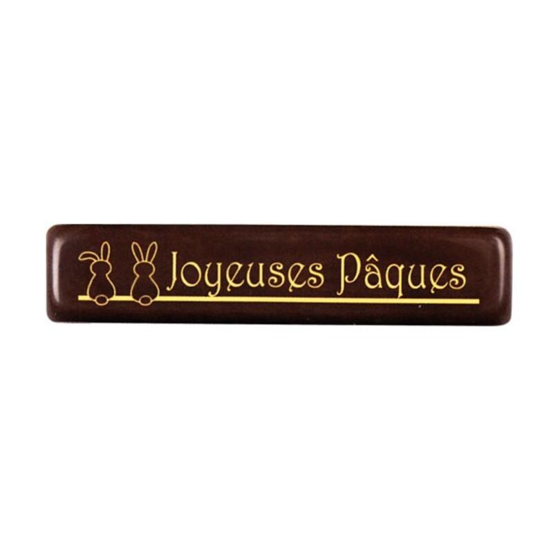 Plaquettes Joyeuses Pâques chocolat noir (x 132)