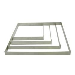 Cercle à tartes carré inox ht 2 cm
