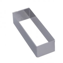 Rectangle inox ht 1,7 cm