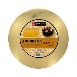 Ronds or 24 cm Gatodéco (x5)