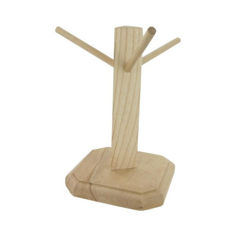 Présentoir à bretzels en bois