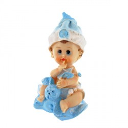 Bébé garçon et son doudou Patisdecor