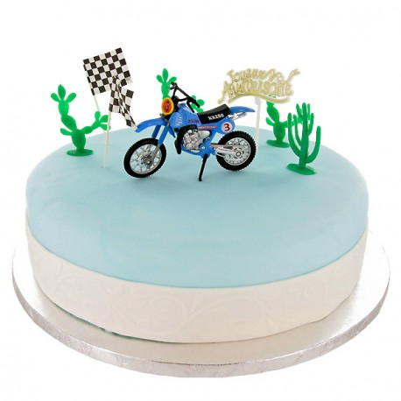 decoration gateau moto
