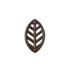 Décors feuilles en chocolat noir (x175)