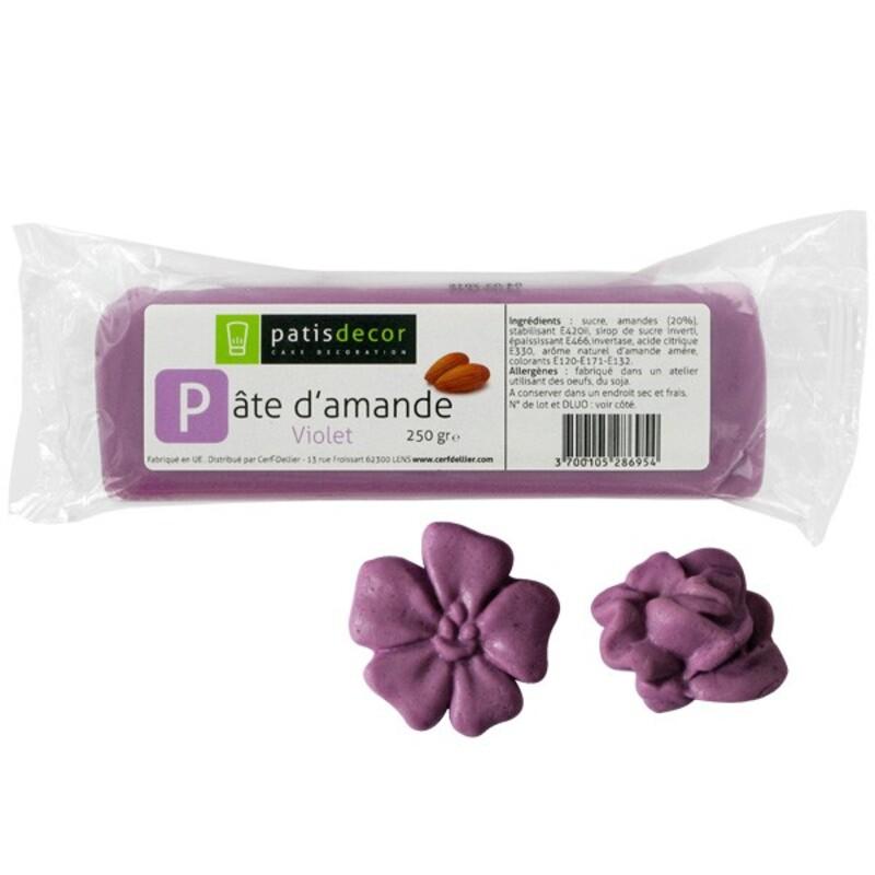 Pâte d'amande Violet Patisdécor 250g