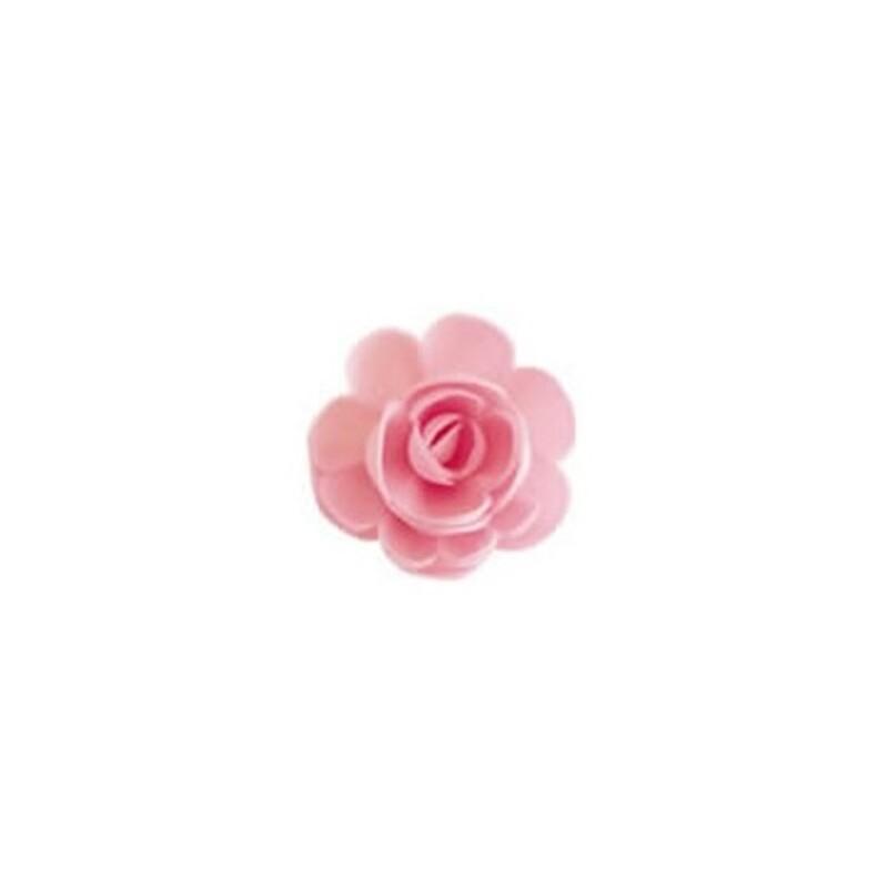 Grande rose azyme rose (x36)