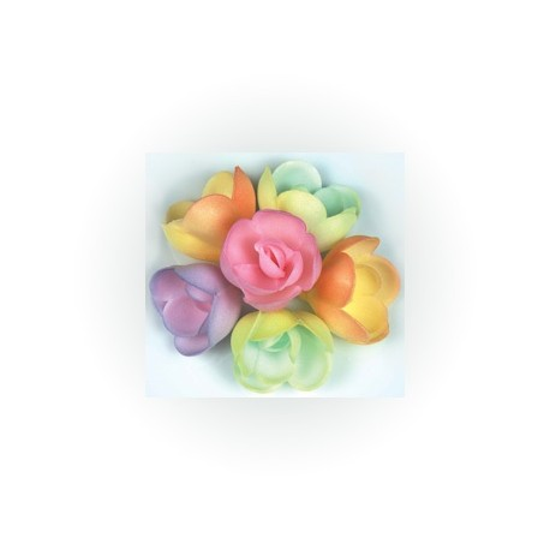 Petites roses azyme pastelles (x72)