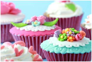 cupcakes décorés de pate a sucre